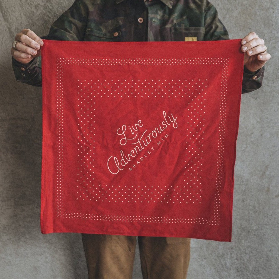 Live Adventurously Bandana - Red