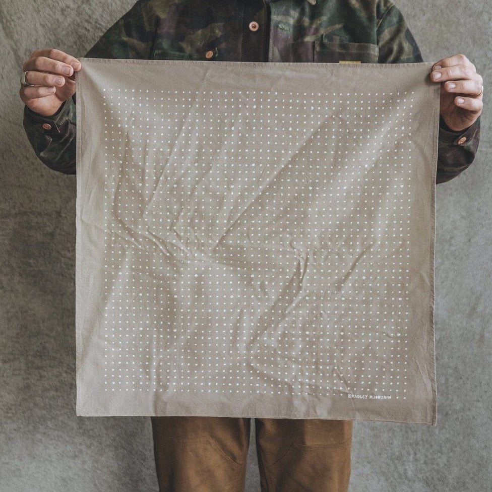 Dot Bandana - Japanese Selvedge - Desert Tan
