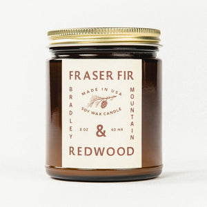 Load image into Gallery viewer, Fraser Fir & Redwood Candle Bradley Mountain