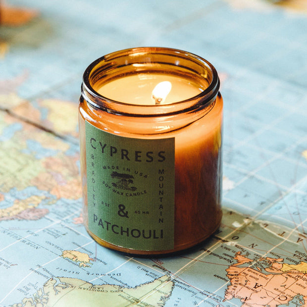 Cypress & Patchouli Candle 1