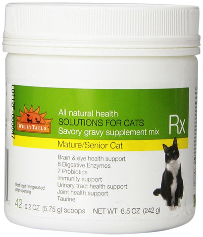 WellyTails Senior Cat Joint Care Rx Supplement 242g/8.5 oz. (42 x 5.75g scoops) - WellyTails Inc.