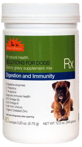 WellyTails Digestion & Immunity Dog Rx Supplement 346g/12.2 oz. (60 x 5.75g Scoops)