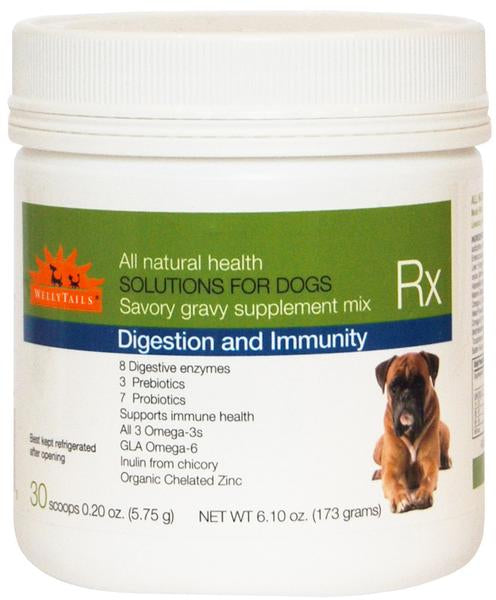 WellyTails Dog Supplement for Digestion and Immune Support with Omega 3 Oil and Probiotics - WellyTails Inc.