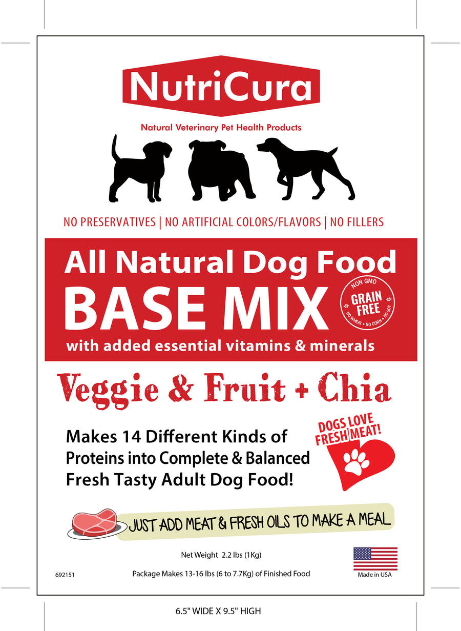NutriCura All Natural Dog Food BASE MIX for Healthy Adult Dogs