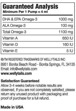 Fortified Wild Ocean Fish Oil & Organic COCONUT OIL Omega-3 Blend Dog Rx  490ml/16.6 fl. oz. - WellyTails Inc.