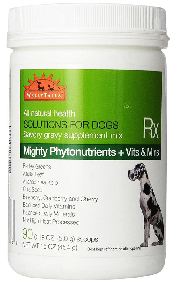 WellyTails Dog Supplements Mighty Green Phytonutrients plus Vitamins & Minerals