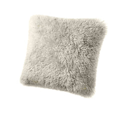 ULU Curly Sheepskin Pillow  Taupe - Large
