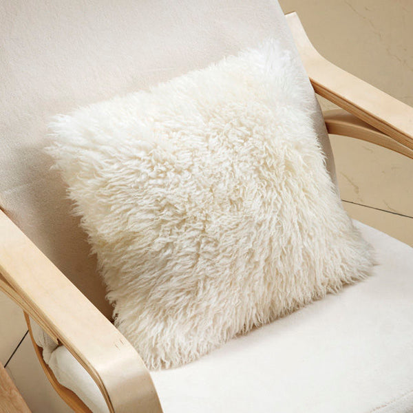 ULU Long Tibetan Wool Pillow Ivory - Large