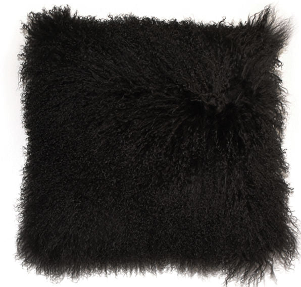 ULU Tibetan Sheep Wool Pillow Black - Large