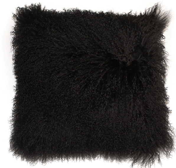 ULU Long Tibetan Wool Pillow  Black - Large