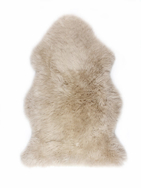 ULU Sheepskin Area rug  - Single Dark Linen