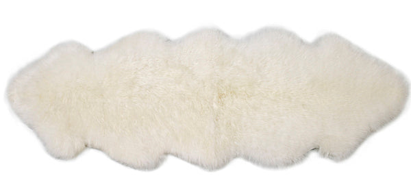 ULU Sheepskin Area Rug Ivory - Double