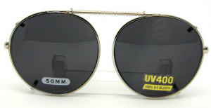semi round clip on sunglasses photo