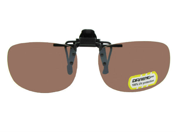 Flip Up Rectangle Non Polarized Amber Lenses