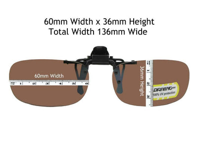 Flip Up Skinny Rectangle Non Polarized Amber