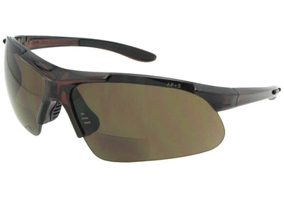 Style B102 Safety Sunglasses With Bifocals Brown Frame Brown Lenses
