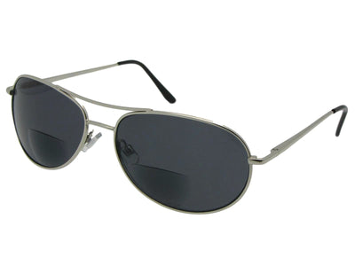 Slim Shape Aviator Bifocal Sunglasses Style B113
