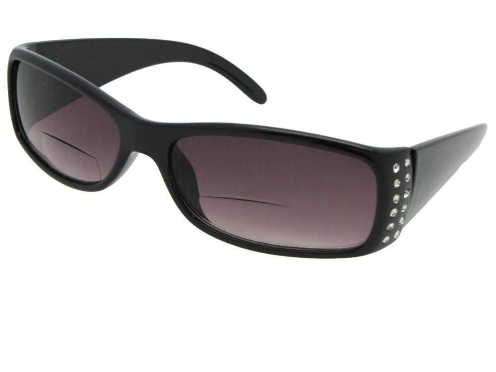 Womens Fashion Bifocal Sunglasses With Rhinestones Style B47