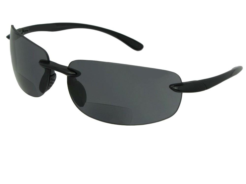 Polycarbonate Rimless Bifocal Sunglasses Style B54