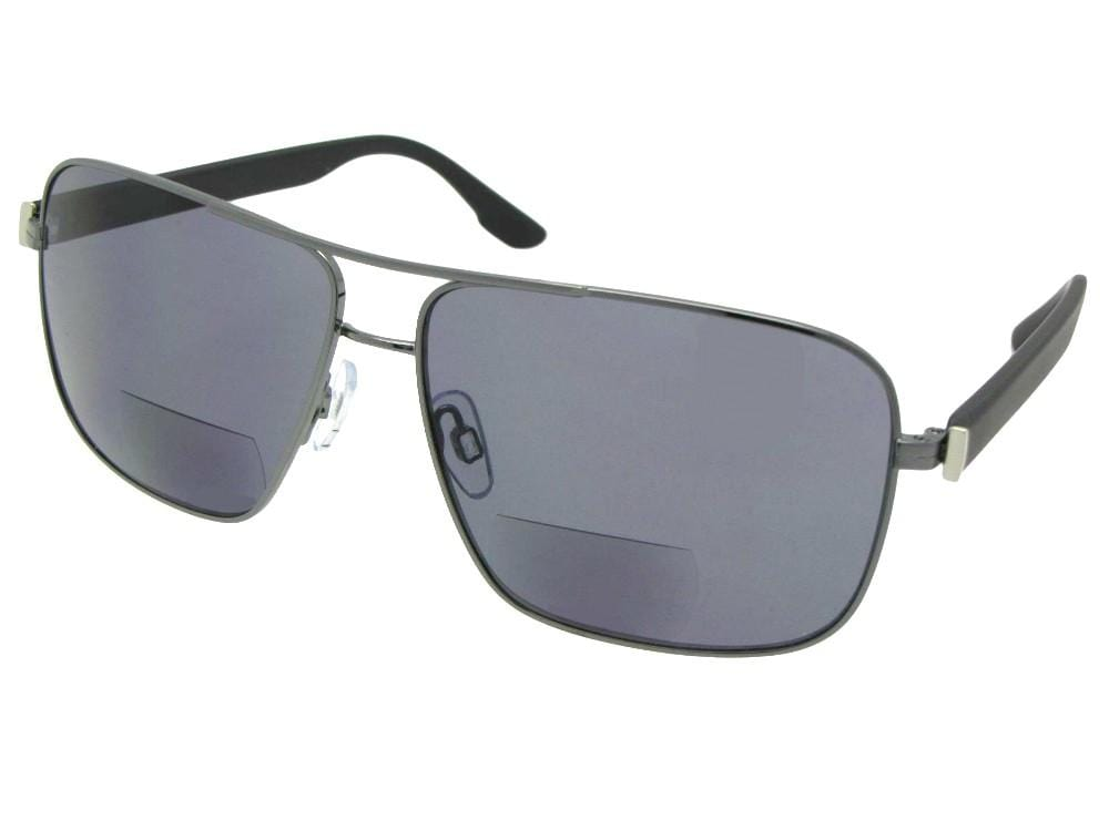 90e2939b44 Premium Square Aviator Bifocal Sunglass For Men Style B82
