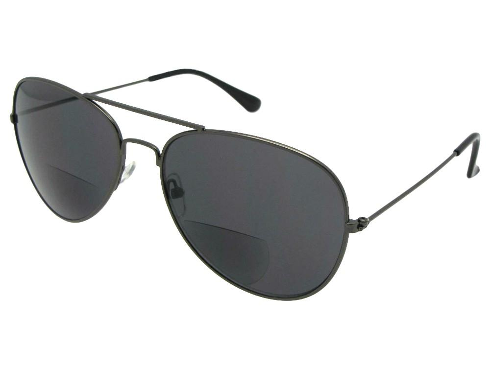 Aviator Shape Frame Bifocal Sunglasses Style B99