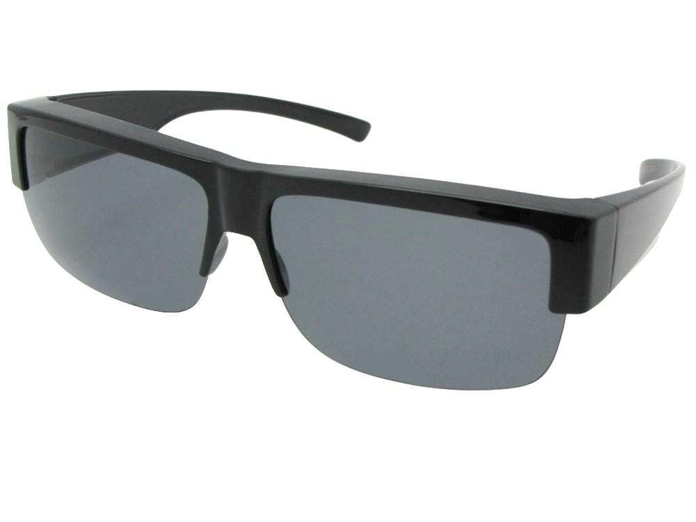 Half Rim Lightweight Polarized Fit Over Sunglasses Style F5