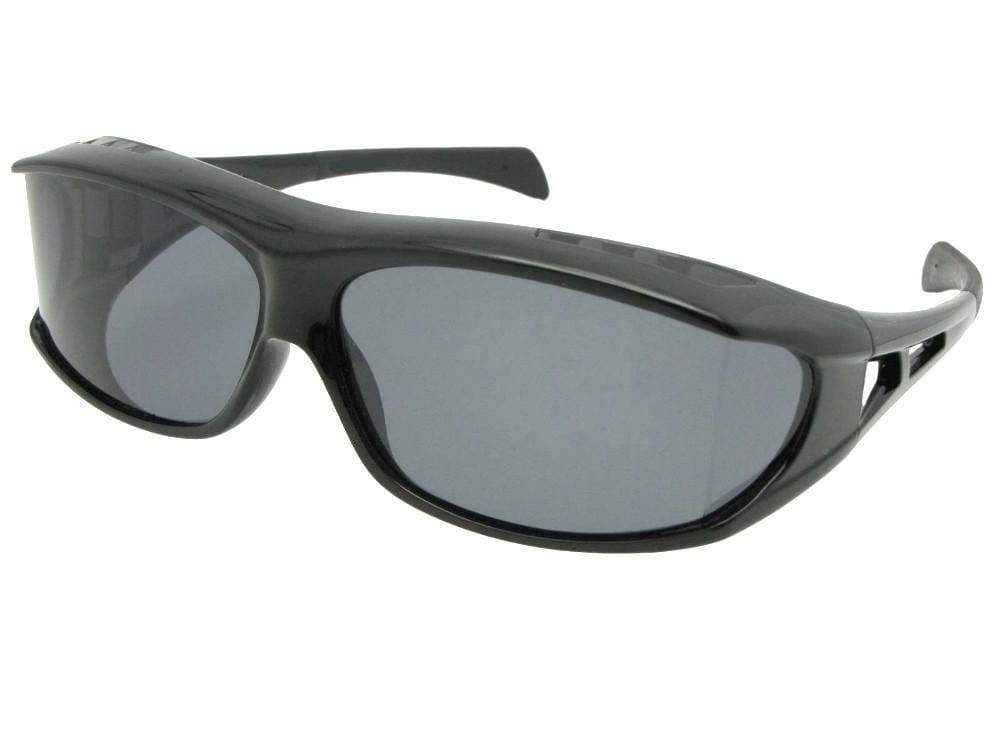 Wrap Around Curved Lens Polarized Fit Over Sunglass Style F6