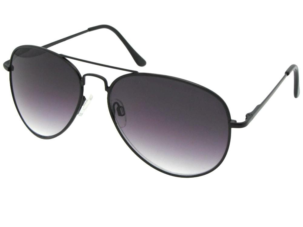 Big Aviator Full Reader Sunglasses With Gradient Lens Style R88