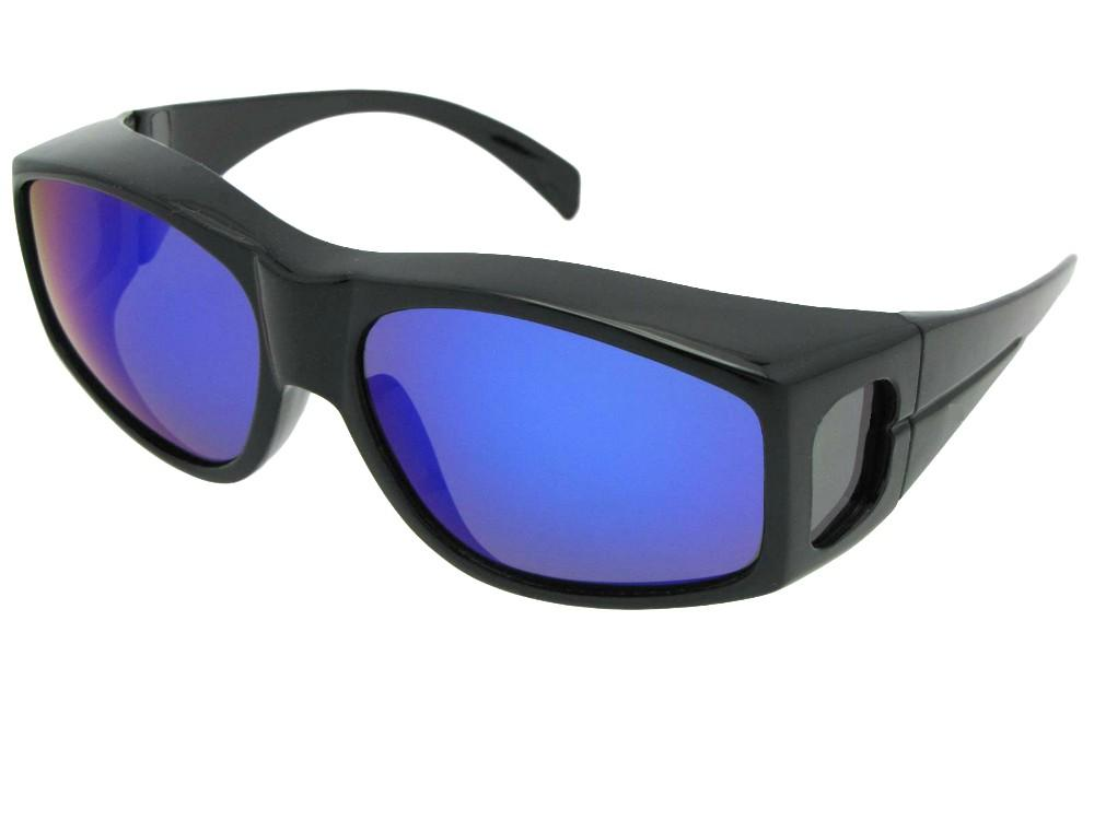 Large Fit Over Sunglasses With Color Mirrored Lens Style F18