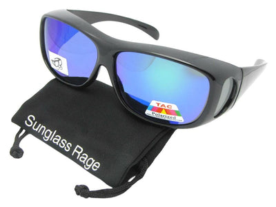 Color Mirror Polarized Fit Over Sunglasses Style F1
