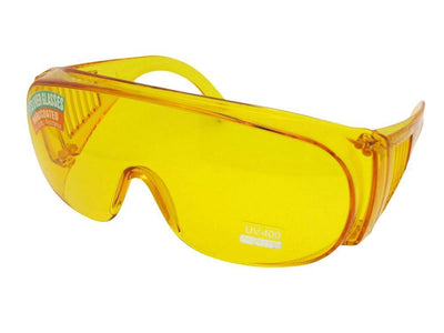 Large Yellow Fit Over Glasses Sun Shield Style F22