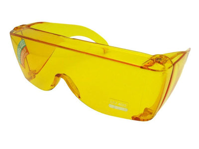 Largest Yellow Wrap Around Sun Shield Worn Over Prescription Glasses Style F30