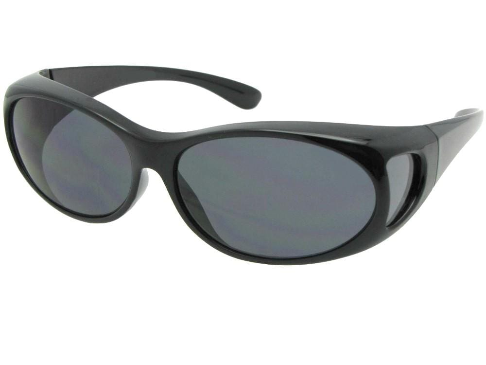 Style F3 Small Non Polarized Fit Over Sunglasses Black Non Polarized Gray Lenses