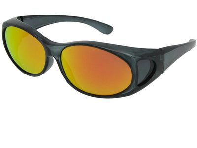 Small Color Mirror Fit Over Sunglasses Style F3