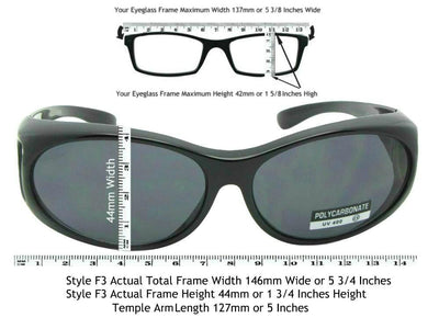 Style F3 Best Small Sunglasses Over Glasses