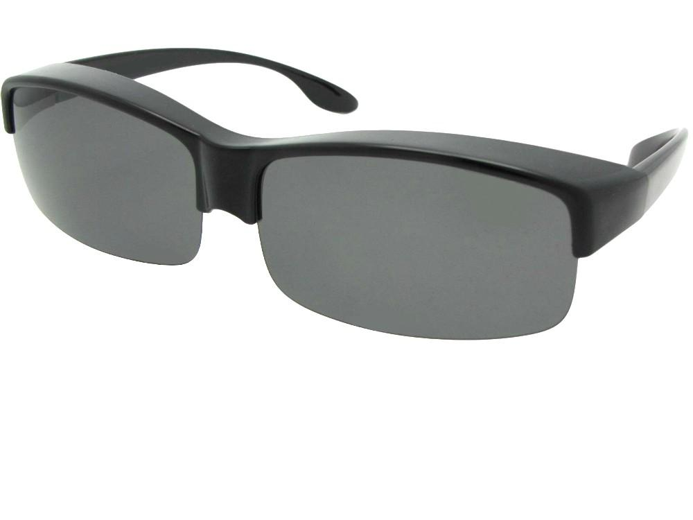 Wide Half Rim Polarized Fit Over Sunglasses Style F40