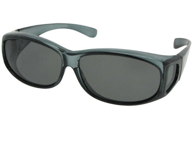 Style FJ3 Junior Size Fit Over Glasses Crystal Gray Gray Lens