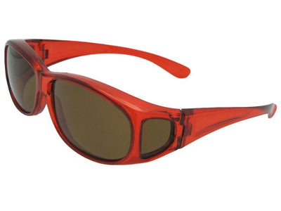 Crystal Red Brown Lens Style FJ3 Junior Size Fit Over Glasses
