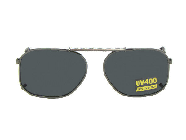 Modified Aviator Non Polarized Clip Ons