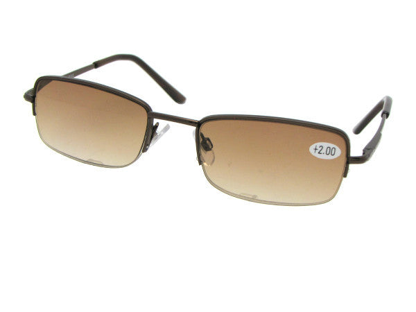Style R63 Semi Rimless Reading Sunglasses