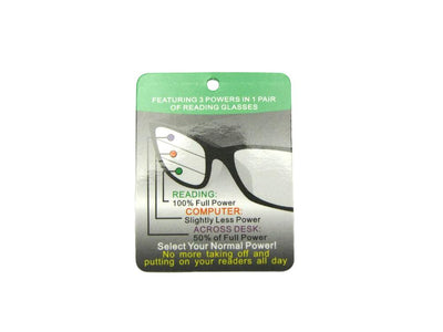 Retro Semi Round Multifocal Reading Sunglasses Style B118