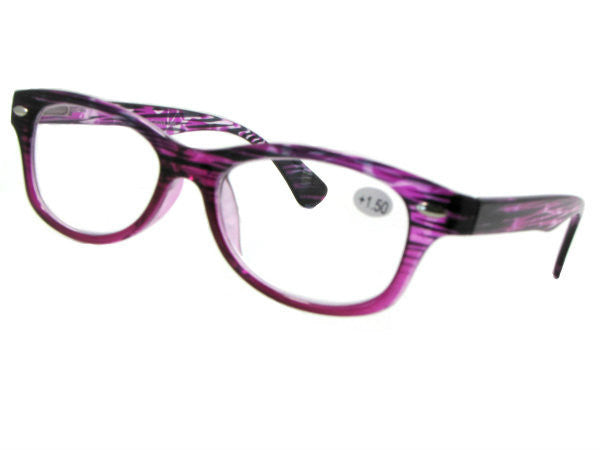 Style R10 Reading Glasses Purple Frame Clear Lenses