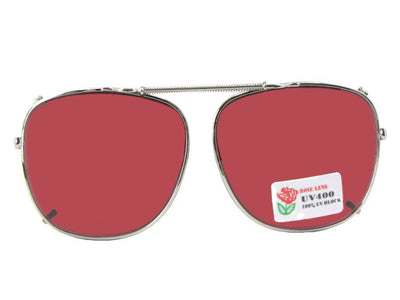 Square Non Polarized Rose Clip On