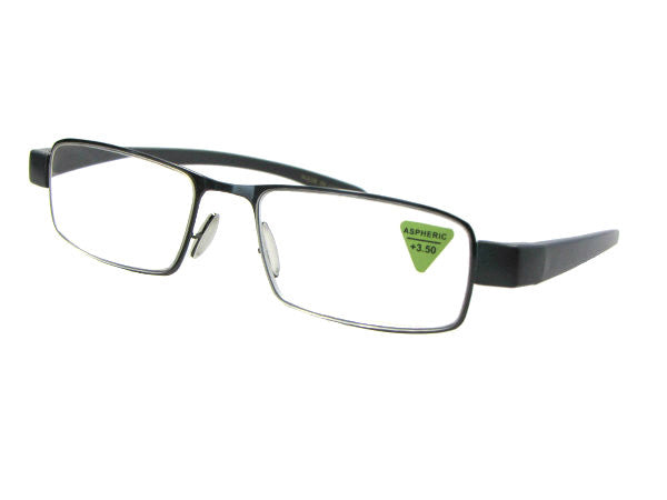 Style R30 Wide Frame Reading Glasses Pewter Frame