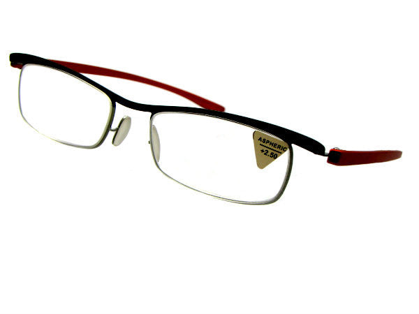 Style R37 Reading Glasses Black Front Frame ClearLenses
