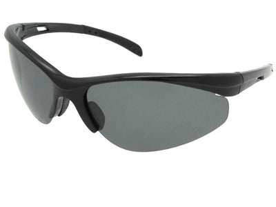 Semi Rimless Wrap Around Polarized Sunglasses Style PSR50