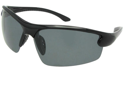 Half Rim Wrap Around Polarized Sunglasses Style PSR51