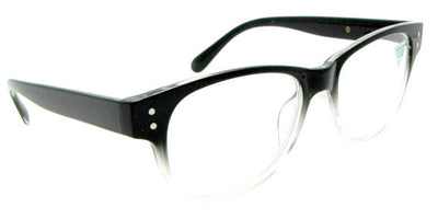 Style R12 Reading Glasses Black Clear Frame
