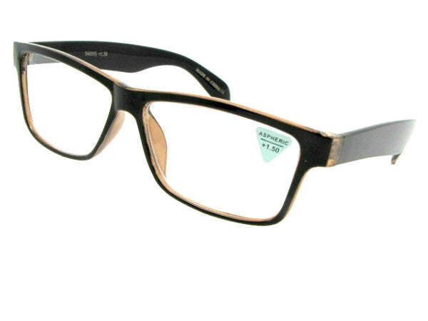 Style R14 Reading Glasses Brown Clear Pattern Frame Mix
