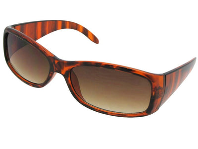 Style R19 Casual Fashion Reading Sunglasses Tortoise Frame Brown Lenses
